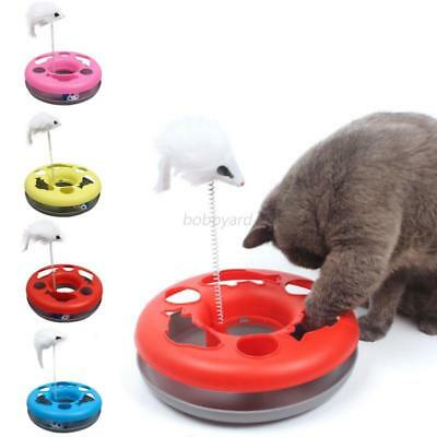 Pets Cat Toy Layered Single Plate Spring Mouse Turntable Interactive Funny Toys