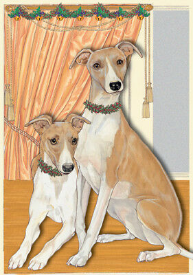 Whippet Christmas Cards Setof 10 cards & 10 envelopes