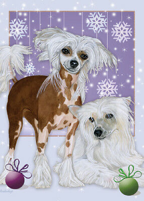 Chinese Crested Christmas Cards Set of 10 cards & 10 envelopes