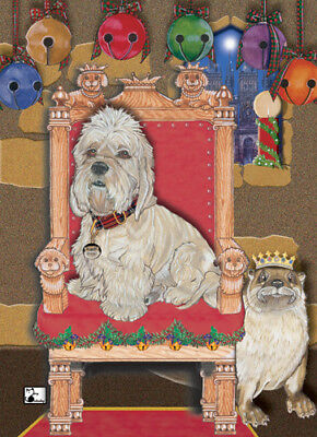 Dandie Dinmont Christmas Cards Set of 10 cards & 10 envelopes