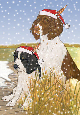 English Springer Spaniel Christmas Cards Set of 10 cards & 10 envelopes