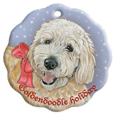 Doodle Holiday Porcelain Christmas Tree Ornament