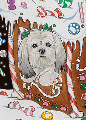 Lhasa Apso Christmas Cards Set of 10 cards & 10 envelopes