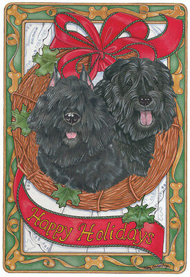 Bouvier des Flandres Christmas Cards Set of 10 cards & 10 envelopes