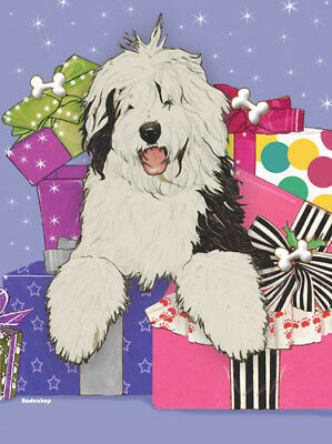 Old English Sheepdog Christmas Cards Set of 10 cards & 10 envelopes