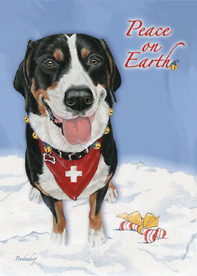 Greater Swiss Mountain Dog Christmas Cards Set of 10 cards & 10 envelopes
