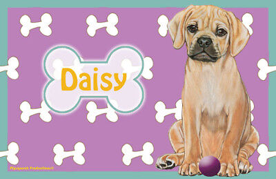 Puggle Personalized Placemat