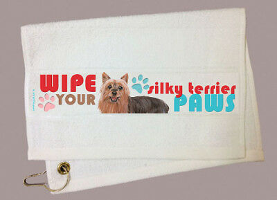 Silky Terrier Paw Wipe Towel