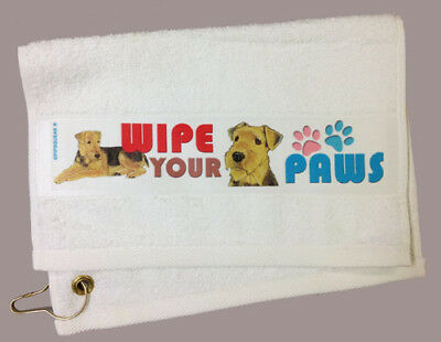 Airedale Paw Wipe Towel