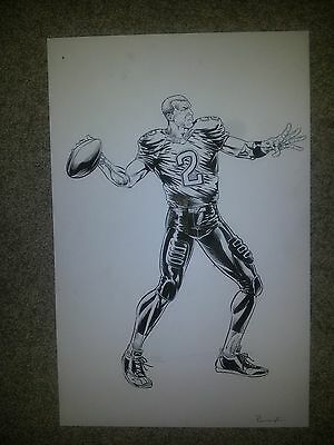 Johnny Manziel Nfl - Artwork For Licenced T-Shirt And Wall Decal - One Of A Kind