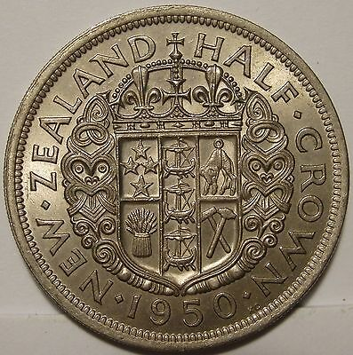 New Zealand 1950 Half Crown.Type 2.Uncirculated.(LotE6174931) Free Postage