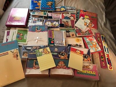 NEW ~ Huge Lot Vintage Garfield Cat Stationary Items