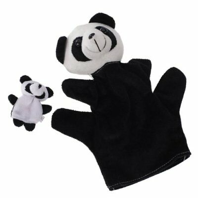 Panda Black and White Finger Puppet and Hand Puppet PK