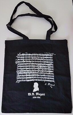 NEW Composer Wolfgang Amadeus Mozart Wine Shopping Tote Music Carry Bag