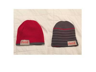 Coca Cola Reversible Beanie Knit Cap Red/gray Warm Free Shipping Coke Brand New