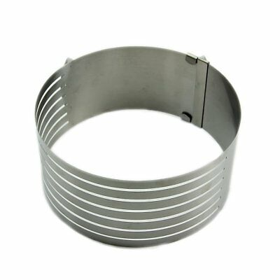 16-20cm Adjustable Stainless Scalable Mousse Ring Layer Slicer Cutter Mould PK