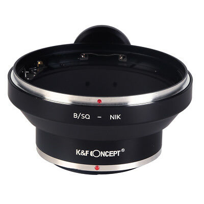 K&F Concept Adapter for Bronica SQ Mount Lens to Nikon F Camera High Precision