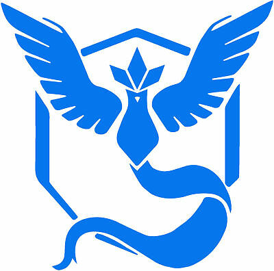 High Quality Pokemon Go Team Mystic Pokeball Vinyl Sticker Decal AU