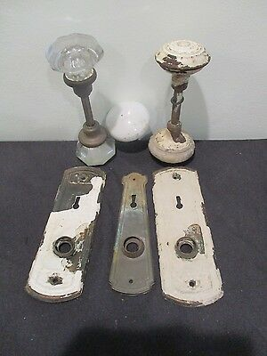 Vintage / Antique Brass / Brass Plated Door Knobs/Plates