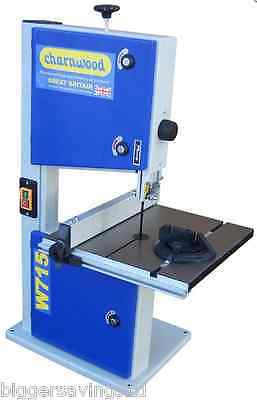 "Charnwood W715 10"" Woodworking Bench Top Bandsaw With Cast Iron Table"