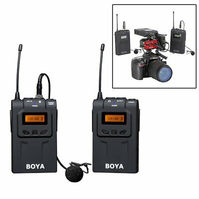BOYA BY-WM6 UHF Lavalier Omni-Directional Wireless Microphone for DSLR Camcorder