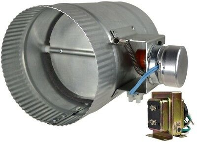 Automated 6 Inch Damper Normally Closed Galvanized Steel Heating Cooling New