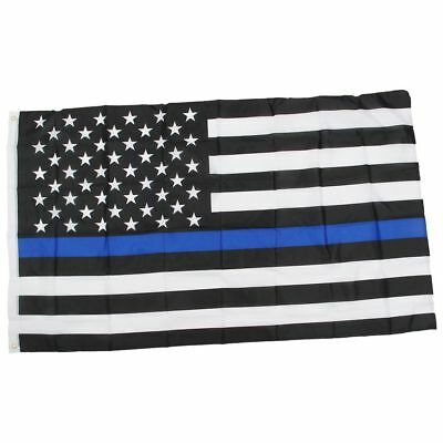 Thin Blue / Red Line American Police Flag Respect and Honor Banner 3x5 Foot PF
