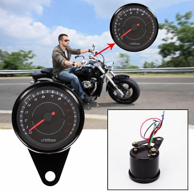 DC 12V Motorcycle LED Backlight Tachometer Night Light Tacho Gauge Speedometer