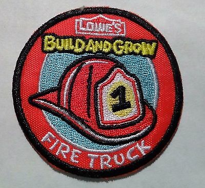 """Patch """"Fire Truck"""" by Lowe's """"Build and grow"""""""