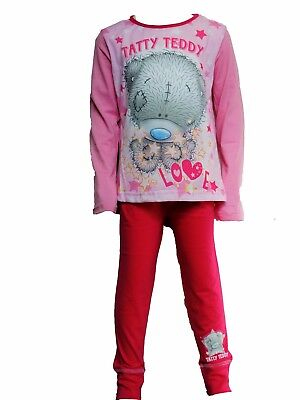 "Girls Me to You ""Tatty Teddy"" Cotton Long Sleeve Pyjamas Age 5 years to 12 years"