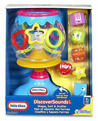 Little Tikes Discover Sounds Shape Sort & Scatter Set Brand New Interactive