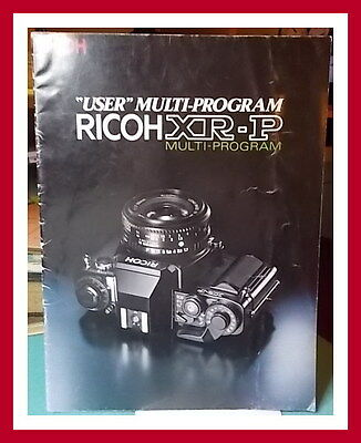 RICOH XR-P USER MULTI PROGRAM - Sales / Marketing Brochure Used - Acceptable