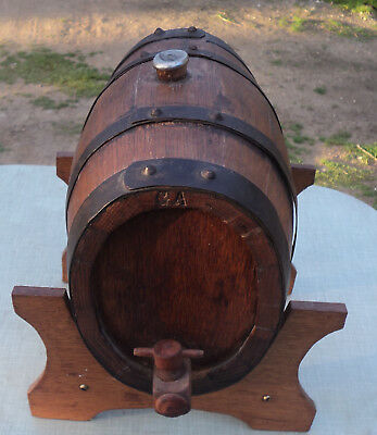 Vintage American Oak Timber Wine Barrel Port Keg Storage