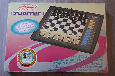 Vintage Jupiter Chess Computer 100% Working And Complete 72 Levels Touch Board