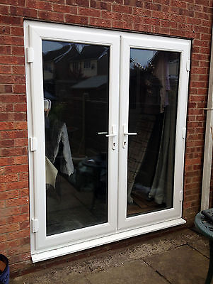 White uPVC French Doors with Sidelights & Toplights - NEW - Made-to-Measure