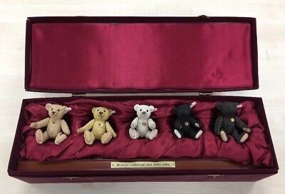 Steiff British Collectors Set 1989-1993: Five Porcelain Bear Figures, Boxed