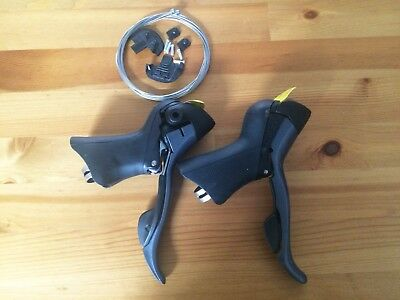 Shimano Road Claris ST-2400 STI Shifter Lever Set 2x8 Speed Left Right w/ Cables