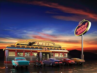 AMERICAN DINER POSTER Retro Chevy ADP01 A4 A3 POSTERS PRINT BUY 2 GET 1 FREE