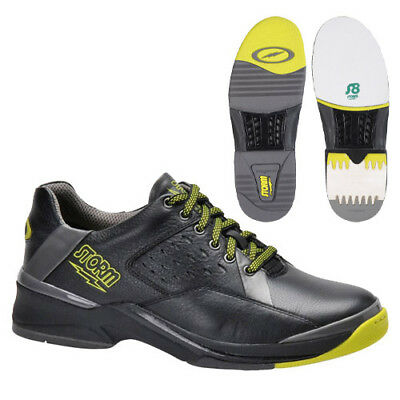 NIB Storm SP 700 Men's Bowling Shoes, Right Handed only, Black/Grey/Lime