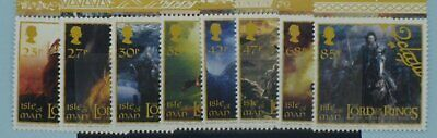 Isle of Man Stamps, 2003, Making of Lord of Rings Film, SG1116-1123, Mint NH