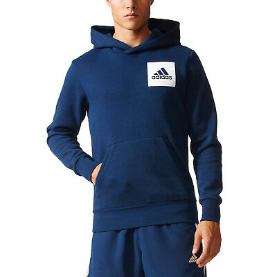 619aa4ad30d Adidas Men Hoodie Running Essential Logo Training Navy Modern Hood New  S98771