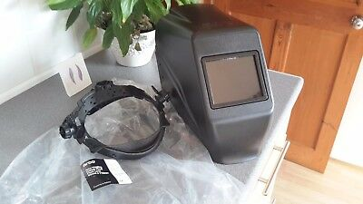 arco welding helmet fixed front lens 90mm x 110mm, brand new,and unused in orori