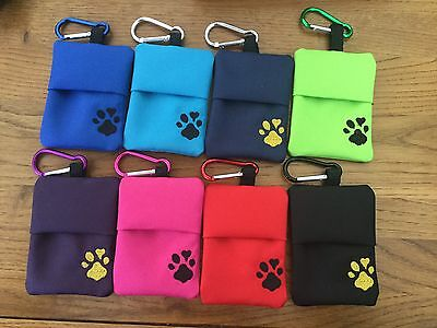dog poo bag holder  - Strong Shower Proof Fabric   !  BACK IN STOCK !!