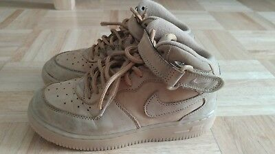 nike air force 1 ones all wheat boys size 1y