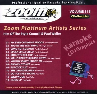 Zoom Karaoke Platinum Artists Series Volume 115 Hits Of The Style Council CD + G