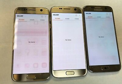 UNLOCKED Samsung Galaxy S7 G930U G930 Gold T-Mobile AT&T Cricket GSM Shadow LCD
