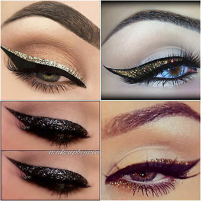 Technic Yurily Saffron Sparkle Eye Glitter Liquid Dip Eye liner Silver Black