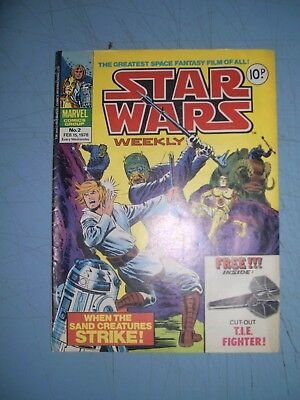 Star Wars Weekly issue 2 Marvel UK 1978