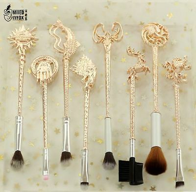 3style 8pc Fashion women jewelry Game of Thrones Make up Brushes