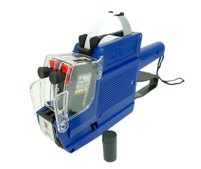 MX-6600 Two-Line Price Label Gun With 1 Roll of Labels & 2 Ink Rollers